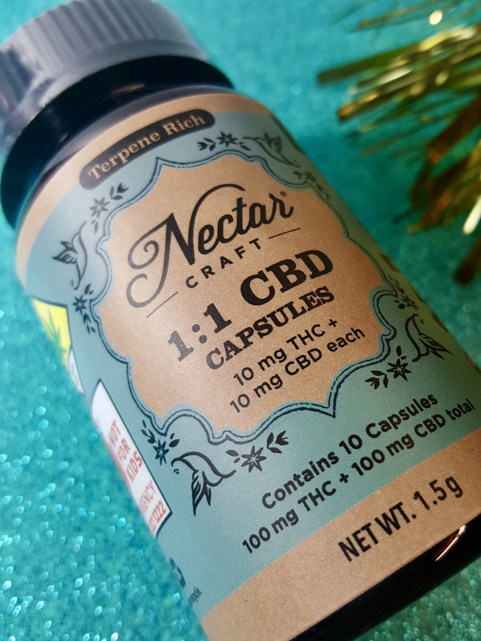 Nectar Craft Capsules 1:1 CBD Ganja Goddess