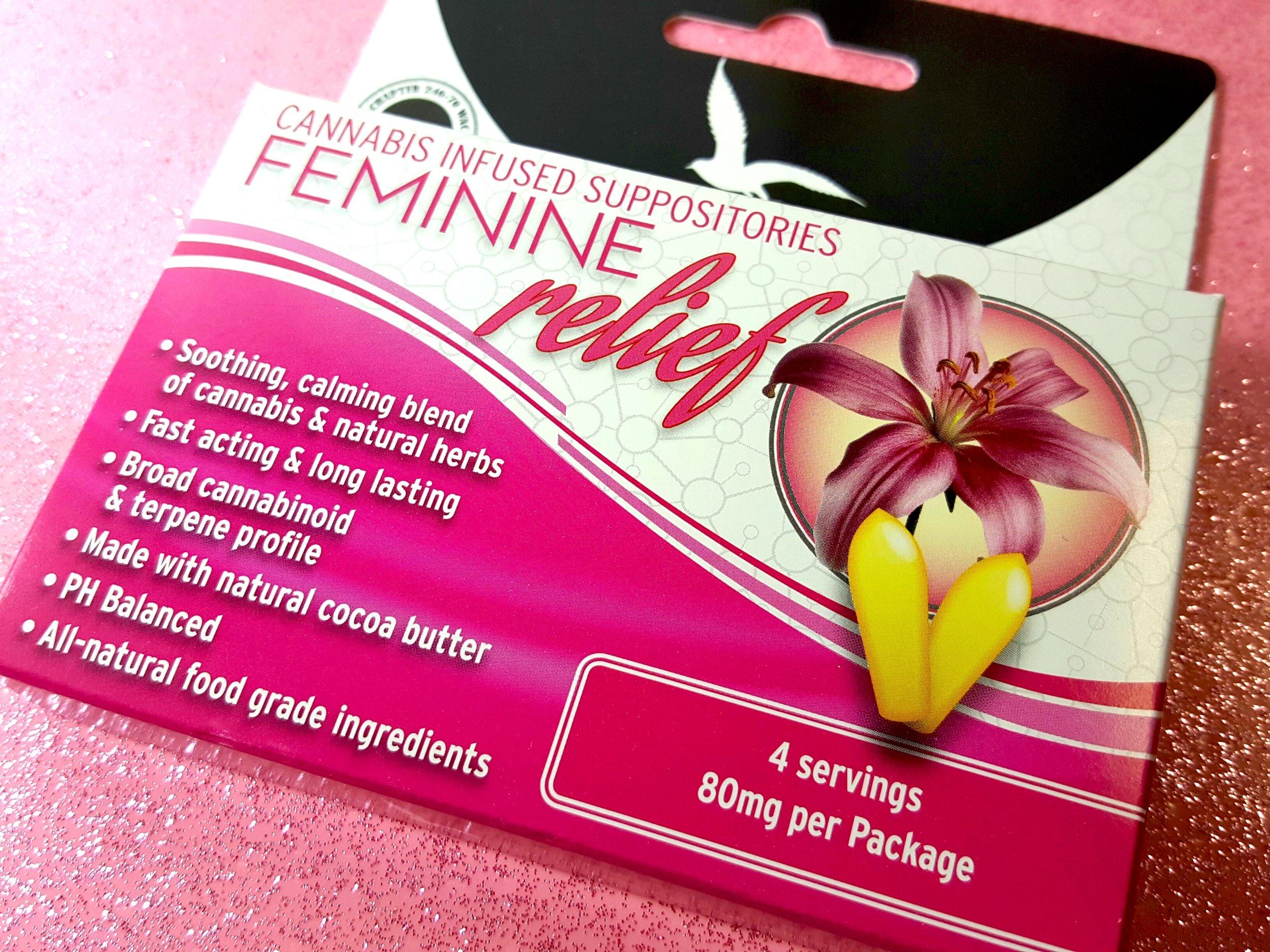 Fairwinds Cannabis Feminine Relief Suppositories Ganja Goddess