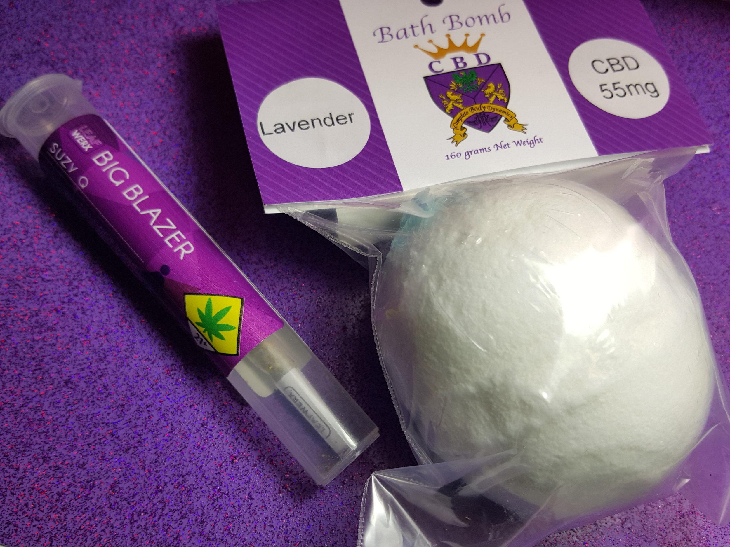 Leafwerx Joints Rogue Raven CBD Bath Bomb Ganja Goddess Seattle