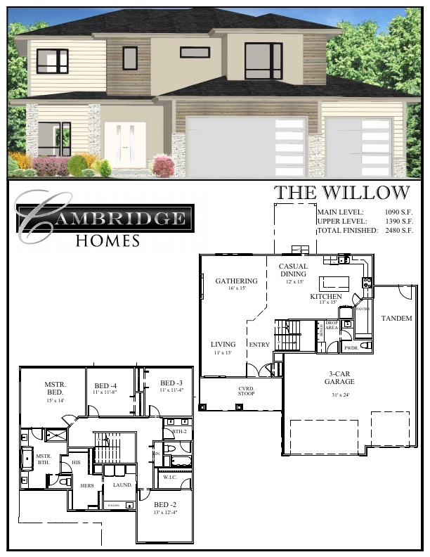 New Modern Elevation and Redesigned Floor Plan!