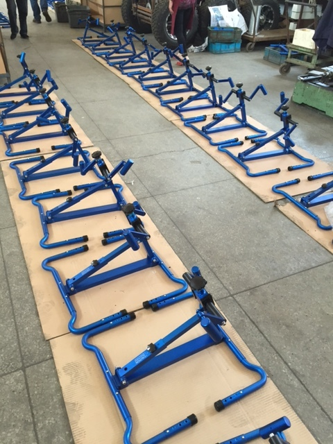Final assembly for BedBike, a portable arm ergometer