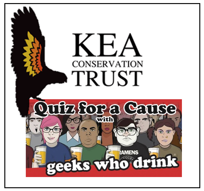 Quiz For Keas - Join us on Wednesday, June 19th to show off your random knowledge, win some cash, and raise money for kea conservation!
