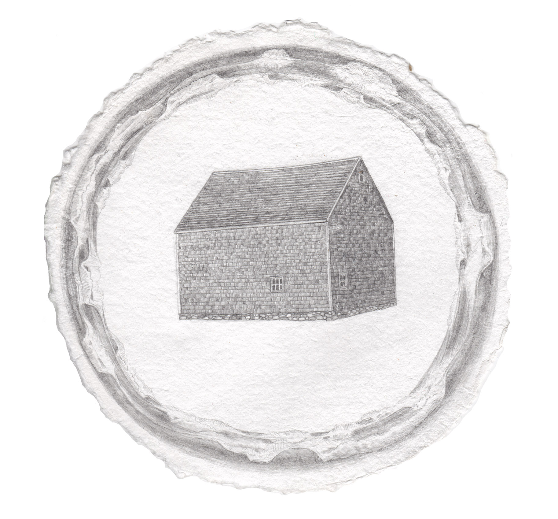 """Ring of the Sea    graphite on paper  8"""" diameter  2018  (sold)"""
