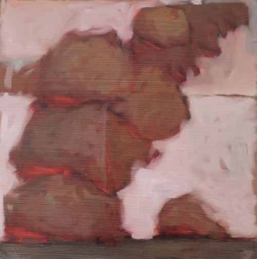 Hermit.  12x12, oil on board.