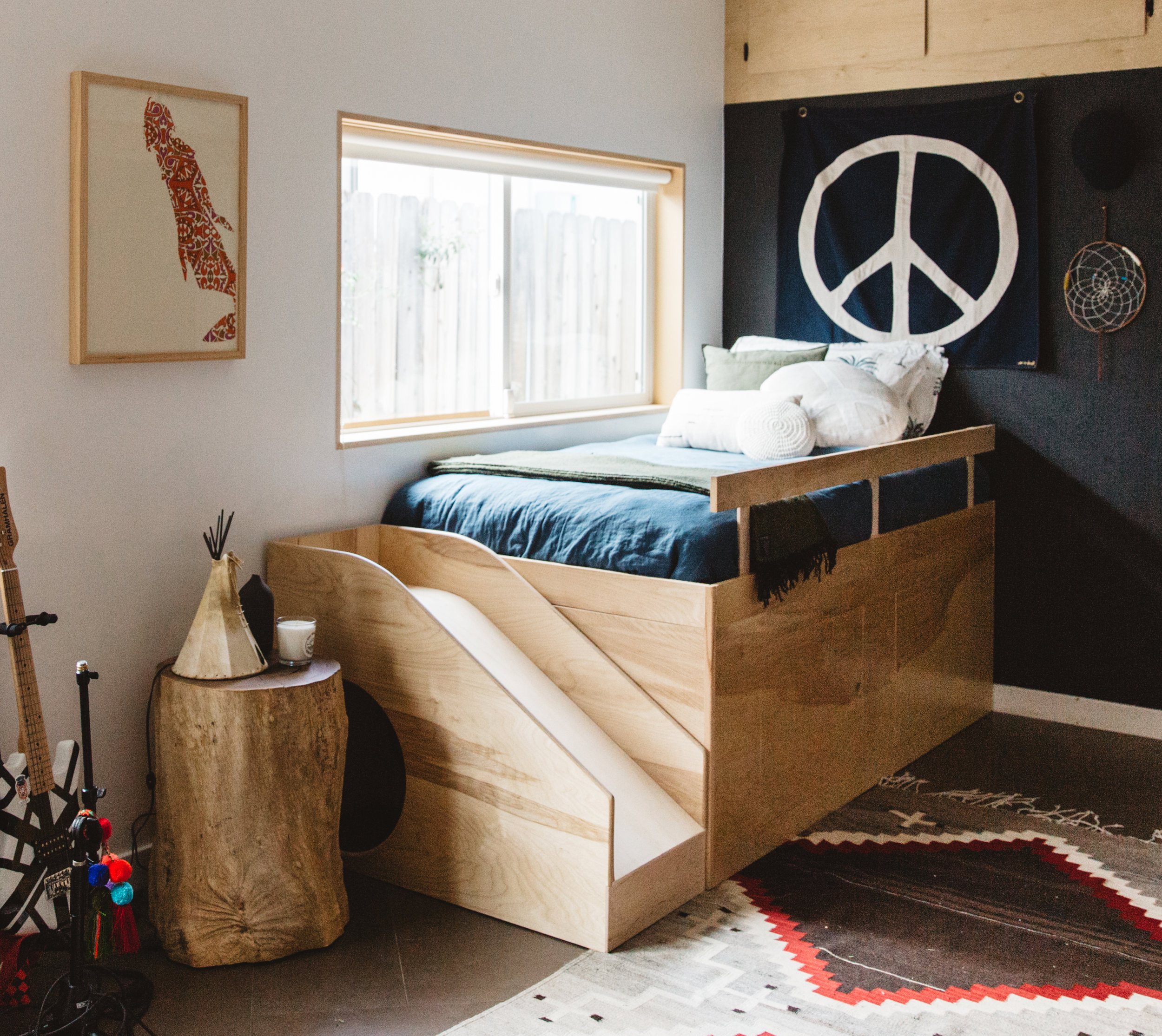 Custom Kid Bed With Slide