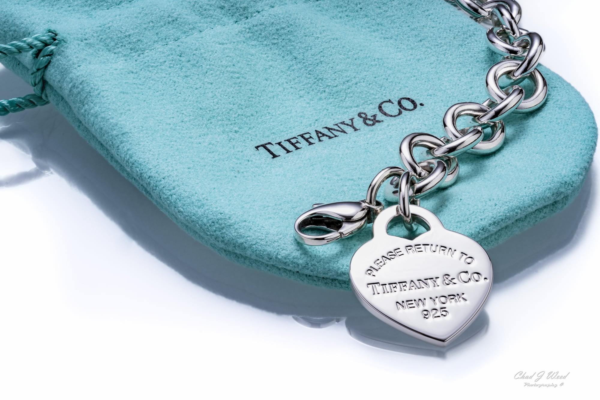 Tiffany Heart Charm Bracelet Commercial Photographer Chad J Weed