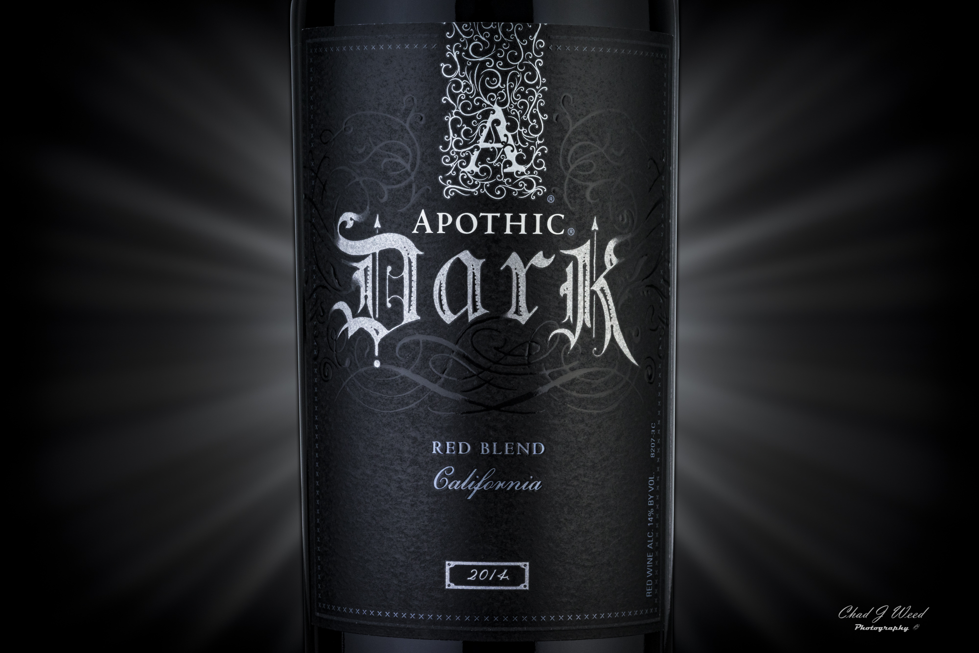 Apothic Dark Wine by Arizona Commercial Photographer Chad J Weed
