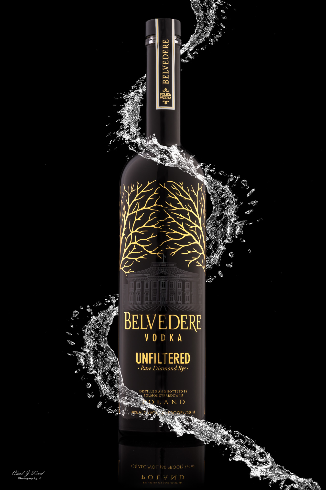 Belvedere Vodka Splash | Arizona Commercial Beverage Photographer Chad J Weed