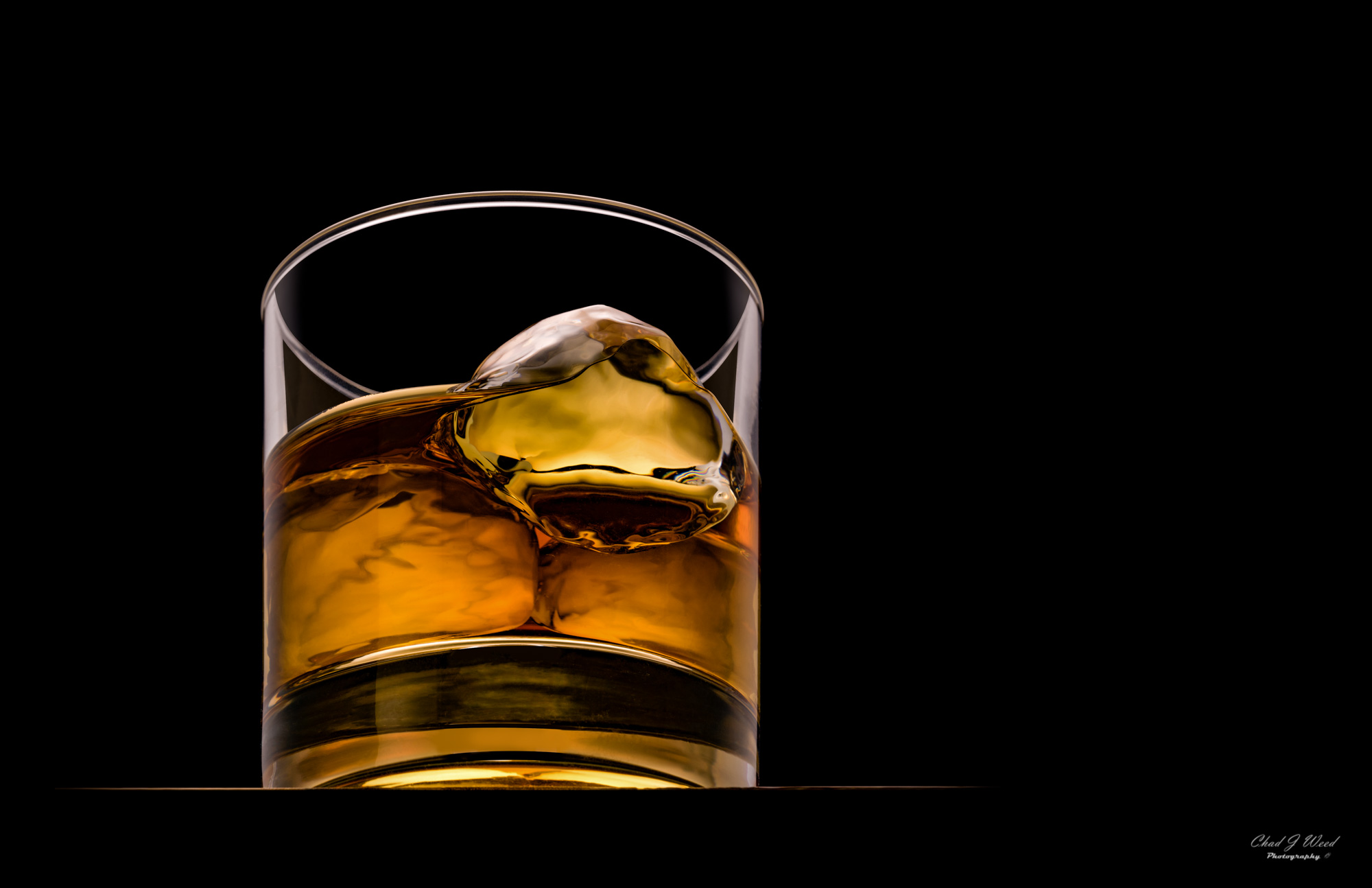 Whiskey Glass by Commercial Beverage Photographer Chad J Weed