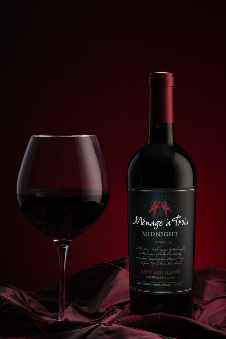 Minage a Trois Midnight Red Blend by Arizona Commercial Beverage Photographer Chad J Weed