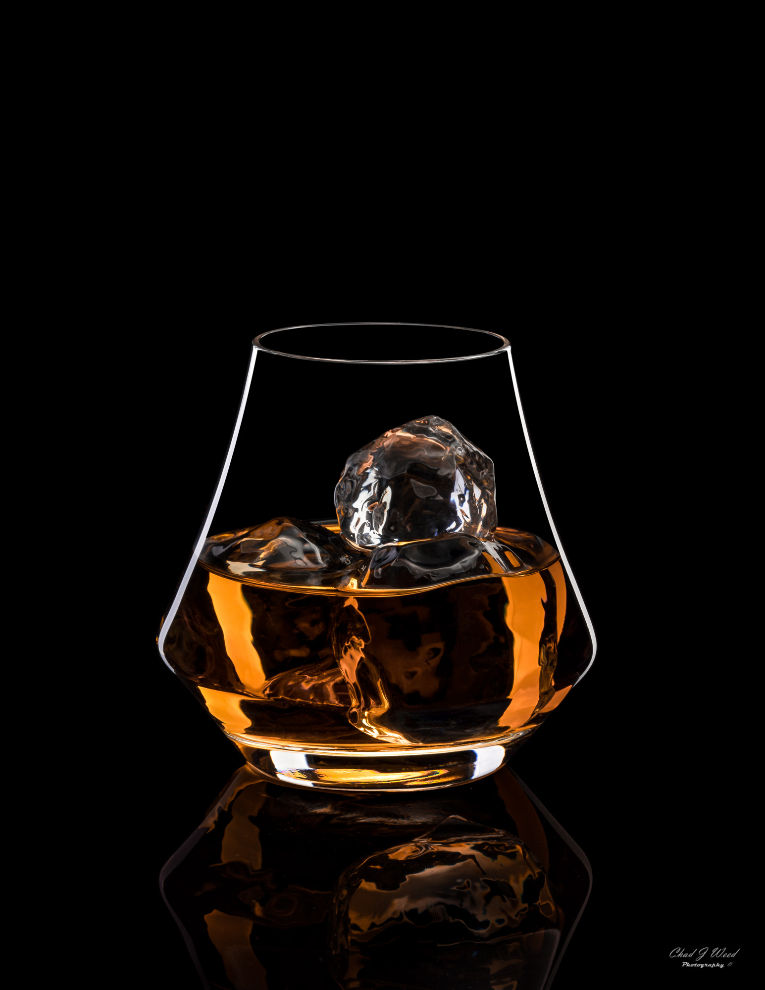 Crown Royal XO Whisky Glass by  Arizona Commercial Beverage Photographer Chad J Weed