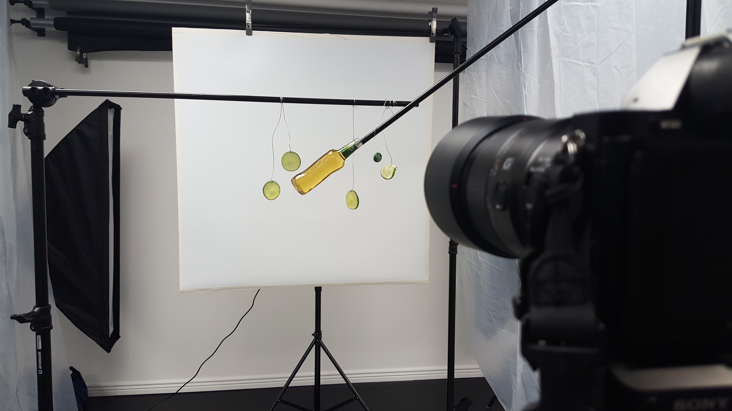 Behind The Scenes of the Bud Light Lime Splash Shot by Commercial Beverage Photographer Chad J Weed