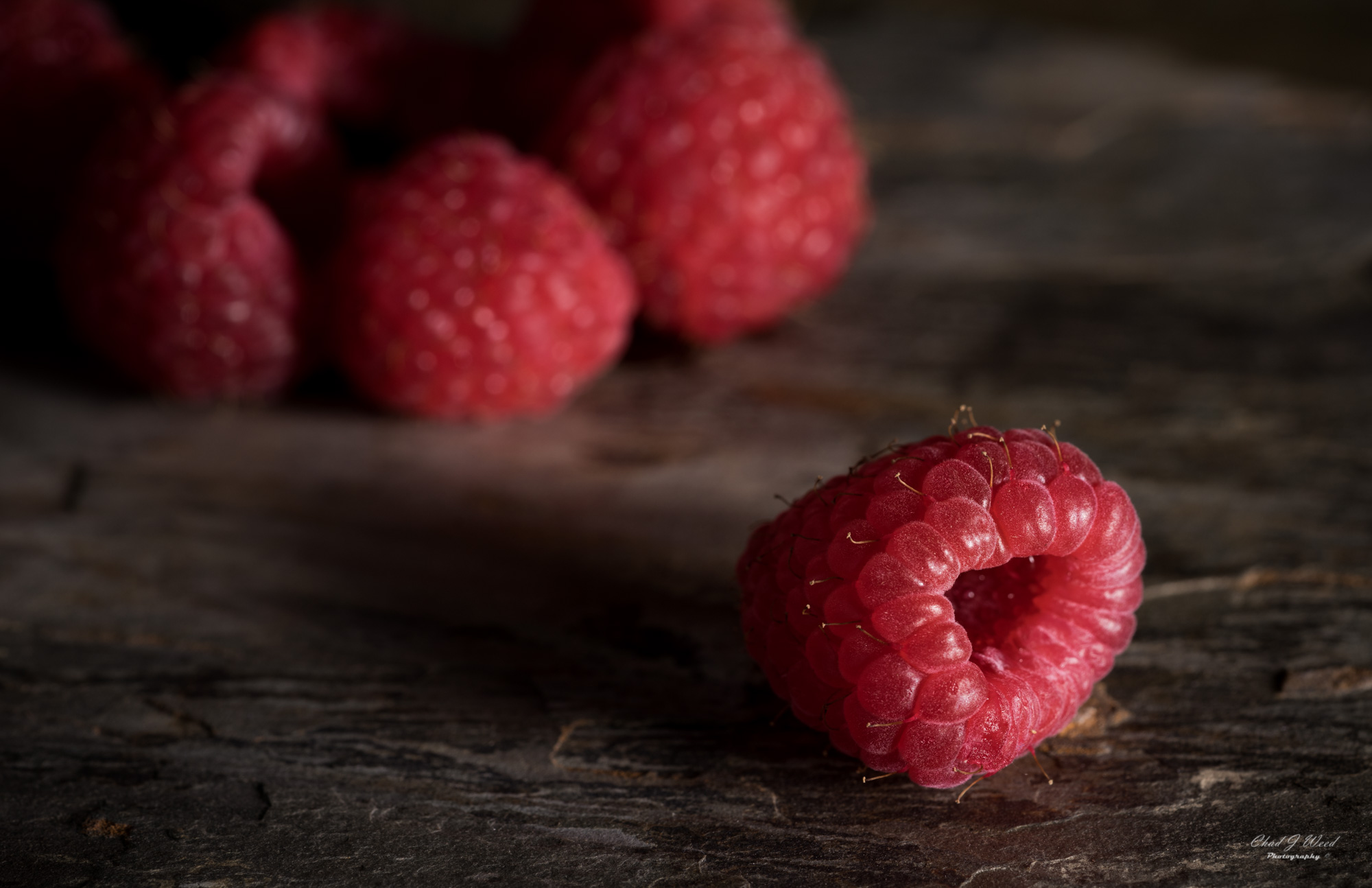 Raspberries by Arizona Commercial Food Photographer Chad J Weed