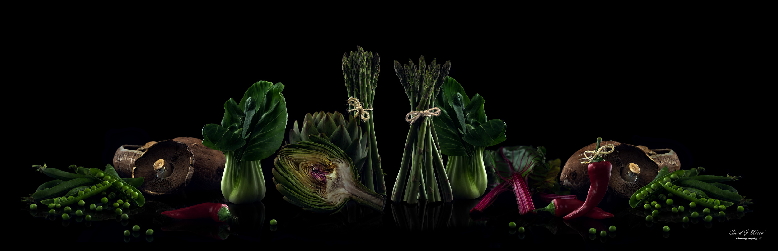 Vegetable Feast by Arizona Commercial Food Photographer Chad J Weed