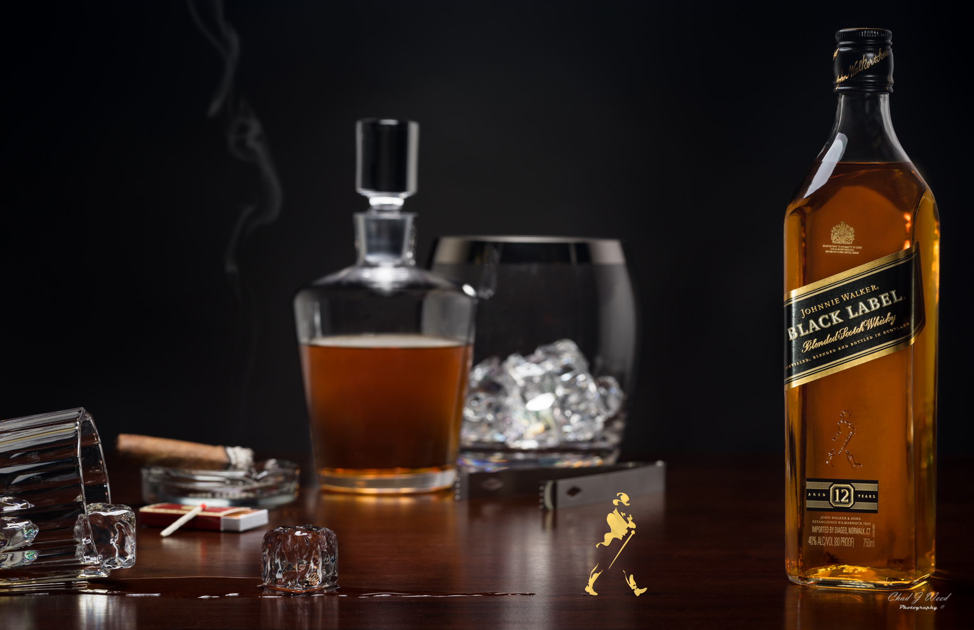 Johnnie Walker Black Label Scotch by Arizona Commercial Beverage Photographer