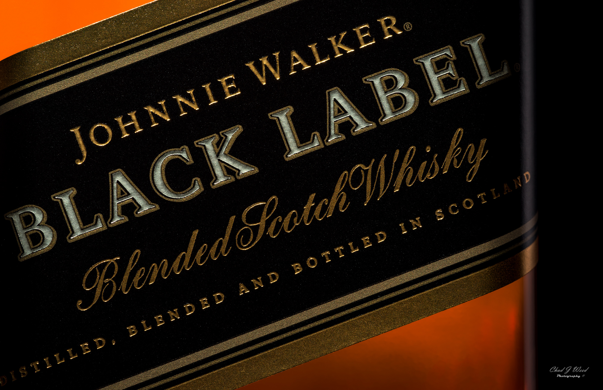 Johnnie Walker Black Label Bottle by Arizona Commercial Beverage Photographer Chad J Weed