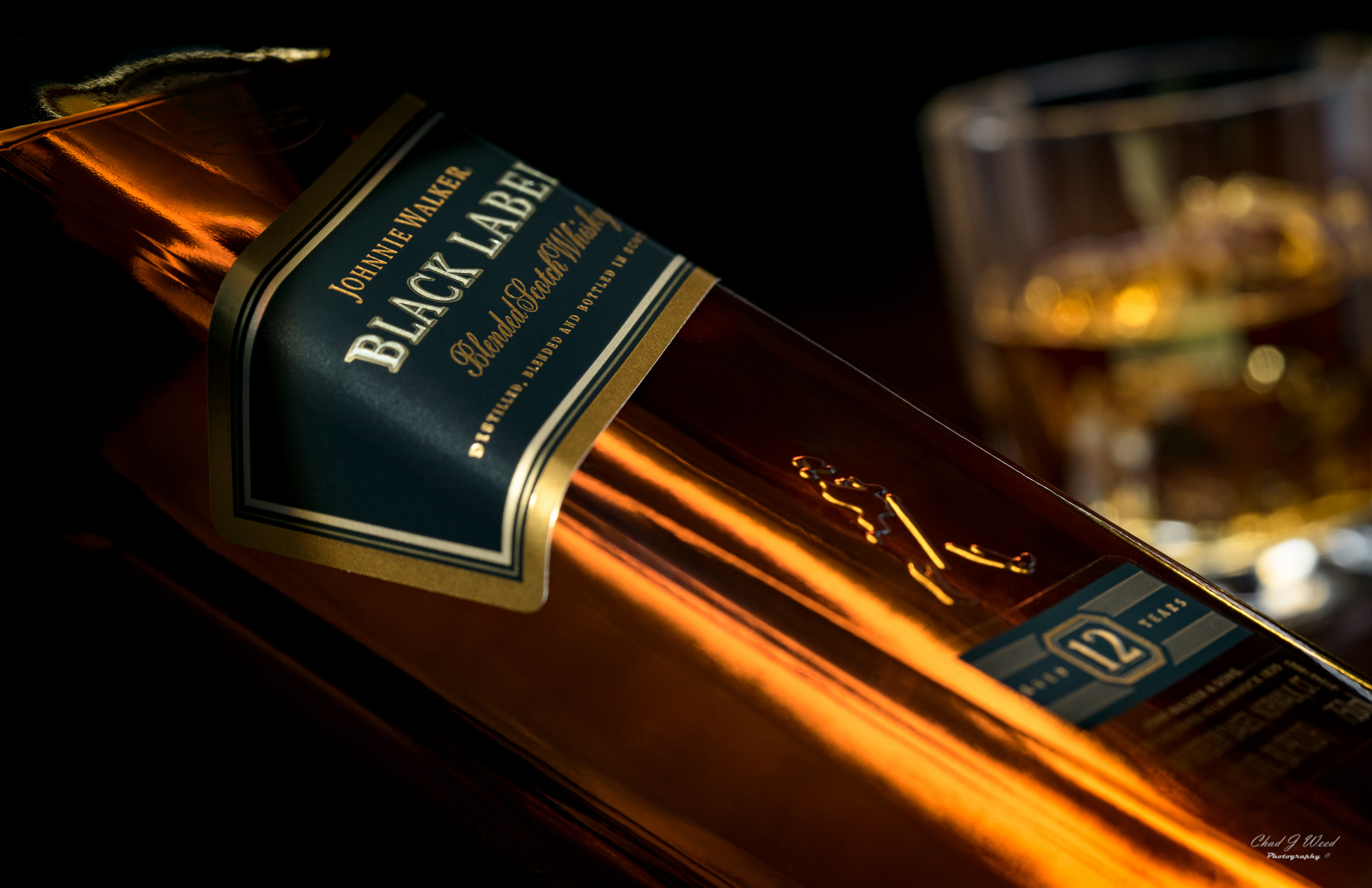 Johnnie Walker Scotch On The Rocks by Arizona Commercial Beverage Photography Chad J Weed