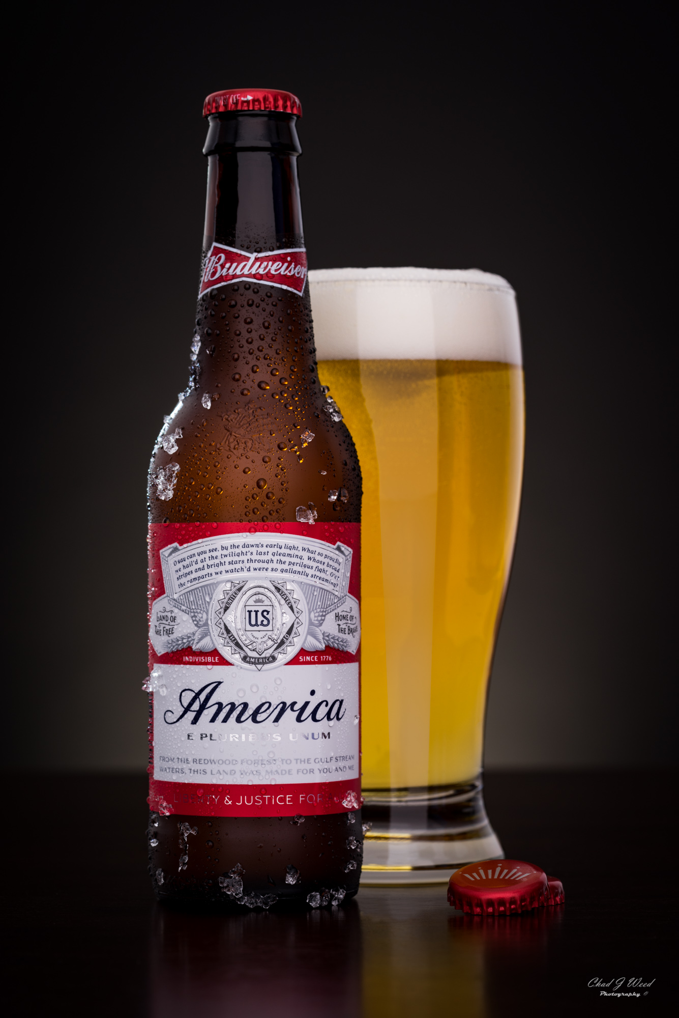 Budweiser America Beer Bottle by Arizona Commercial Beverage Photographer Chad J Weed