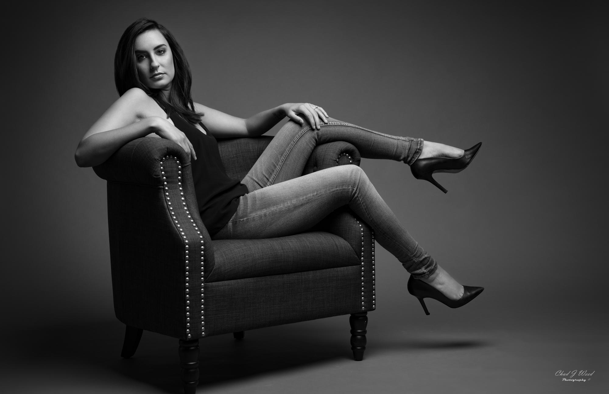 Dayna Studio Portraits in Black and White by Arizona Portrait Photographer Chad J Weed