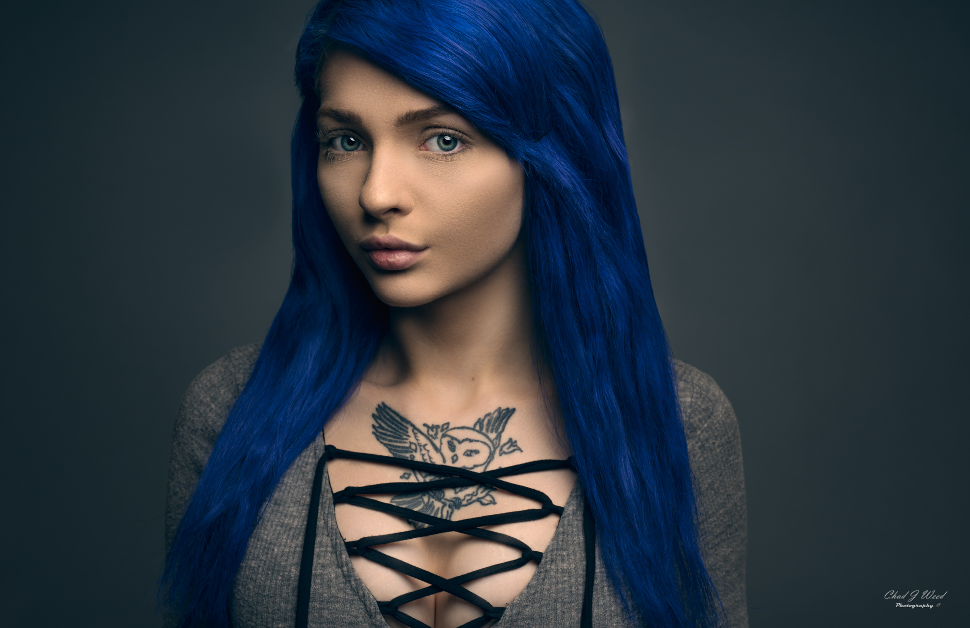 Blue Hair by Mesa Arizona Portrait Photographer Chad Weed