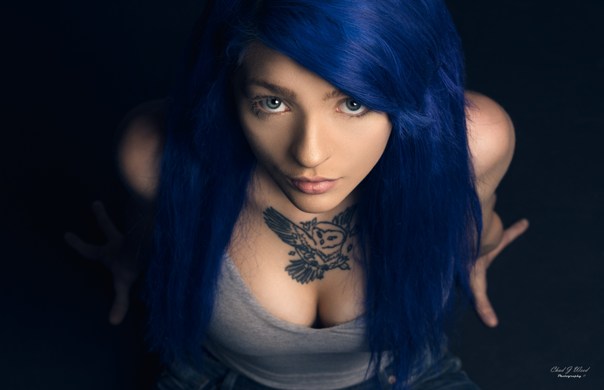 Melissa Blue Hair by Mesa Arizona Portrait Photographer Chad Weed