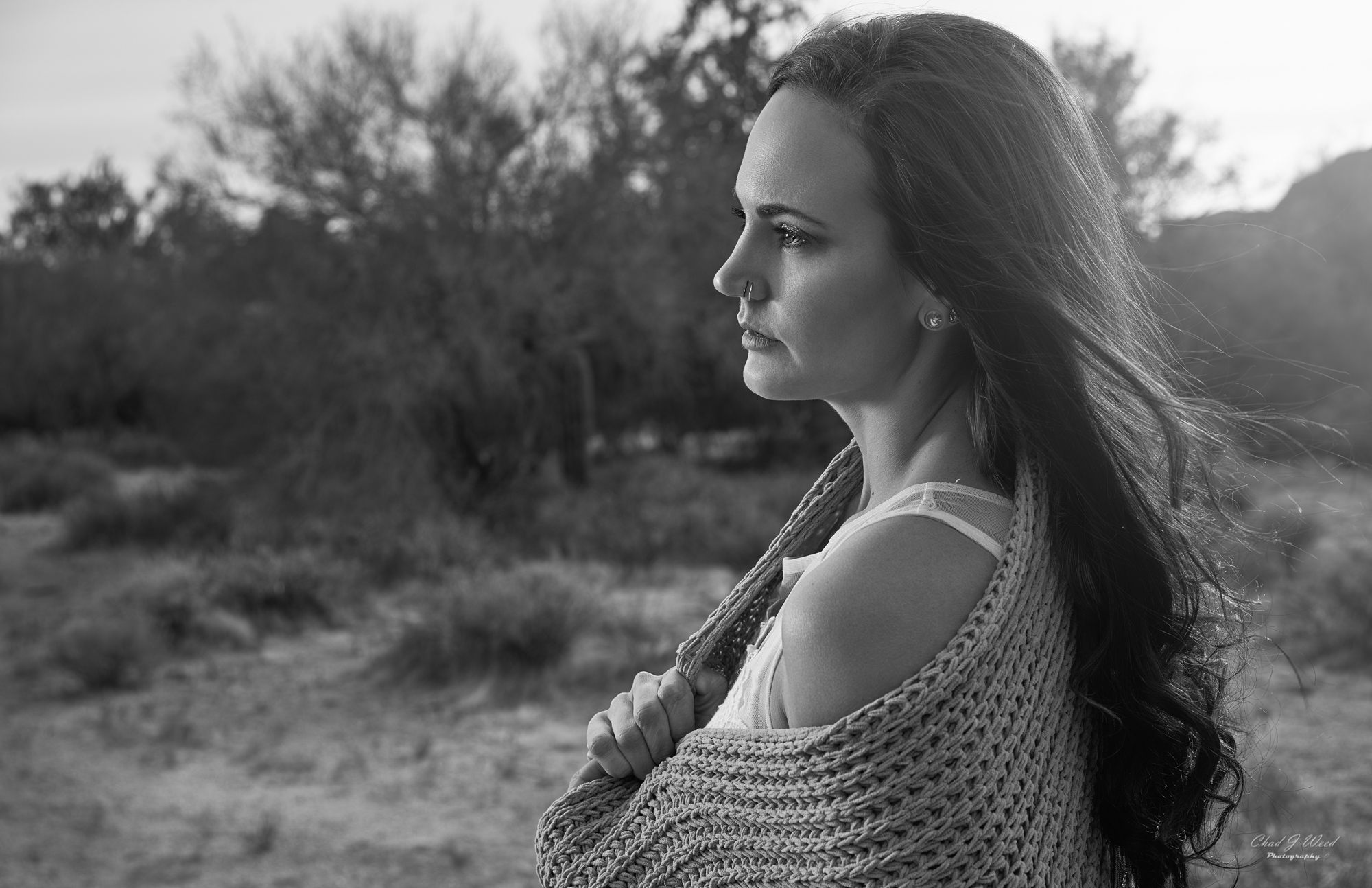 Erica's Editorial Shoot at Superstition Mountains by Mesa Arizona Portrait Photographer Chad Weed