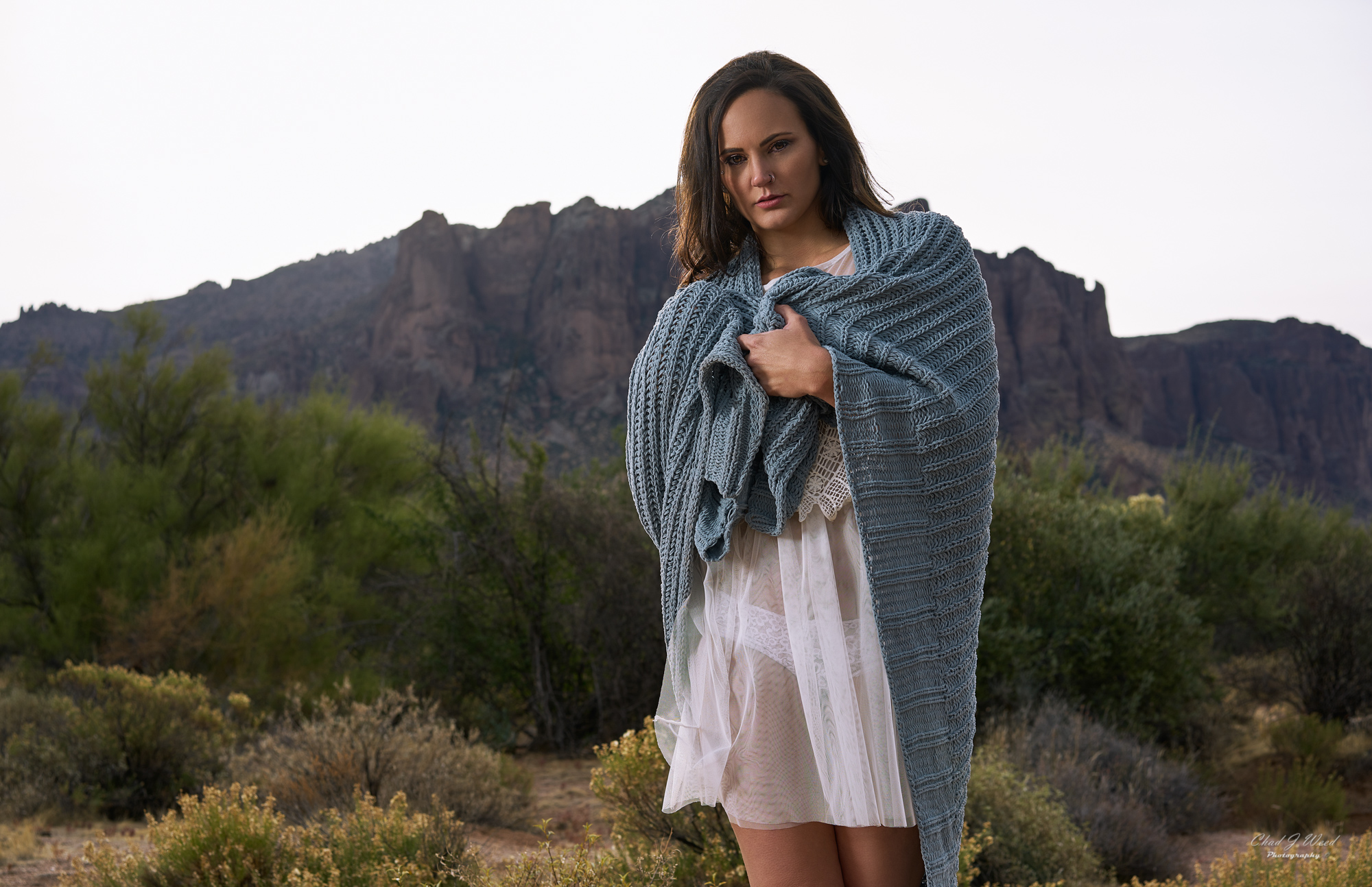 Erica's Boudior Shoot at Superstition Mountains by Mesa Arizona Portrait Photographer Chad Weed