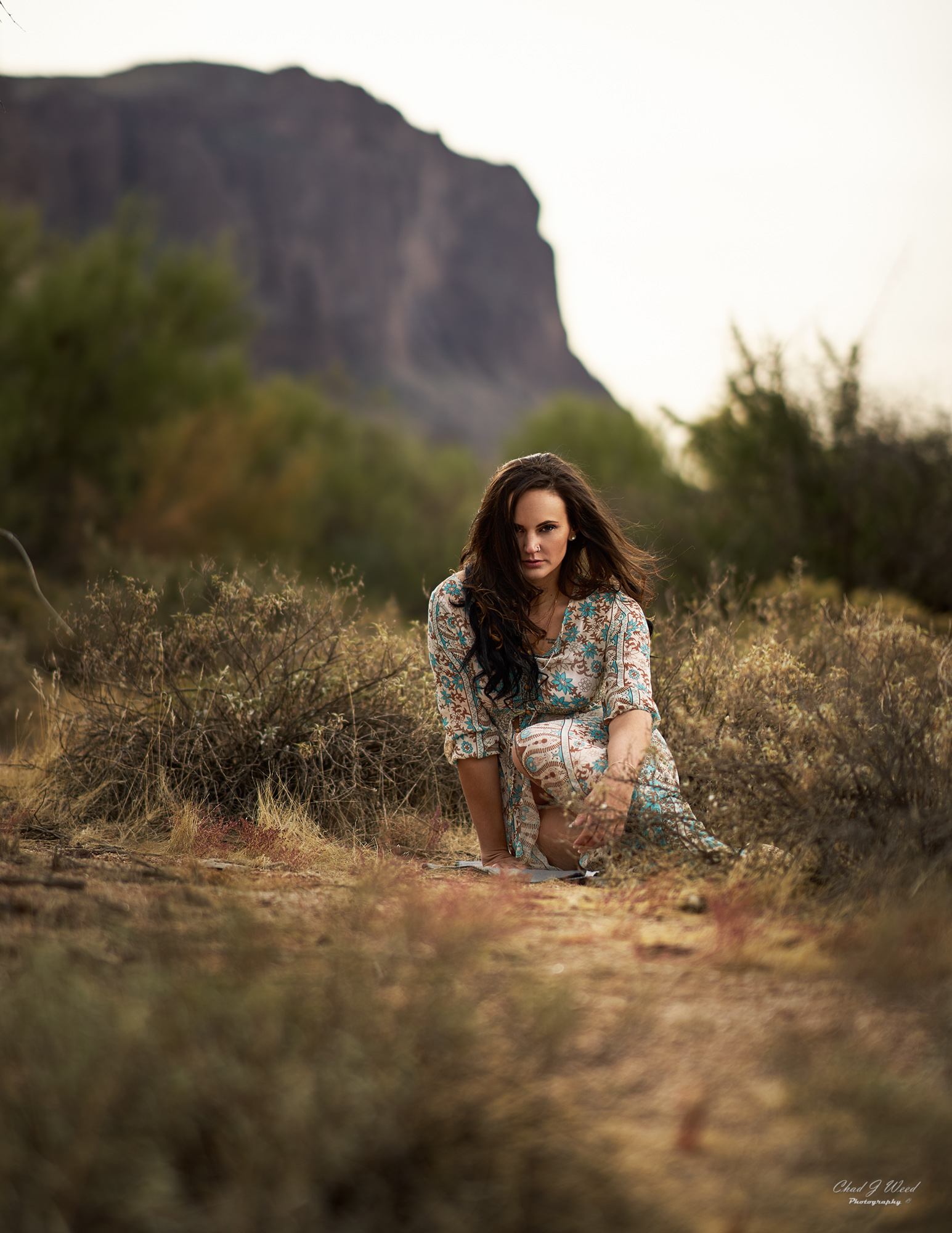 Erica's Editorial 1 at Superstition Mountains by Mesa Arizona Portrait Photographer Chad Weed