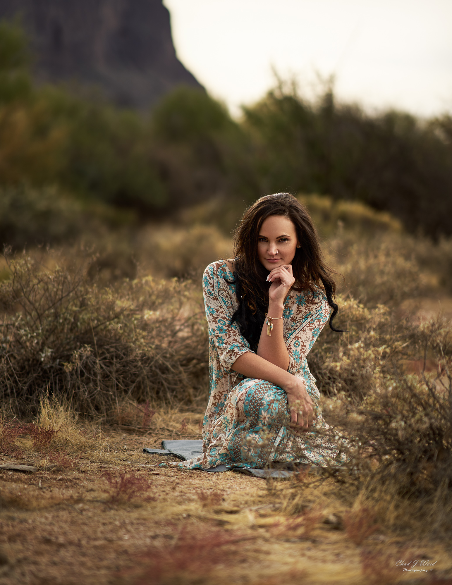 Erica's Editorial at Superstition Mountains by Mesa Arizona Portrait Photographer Chad Weed