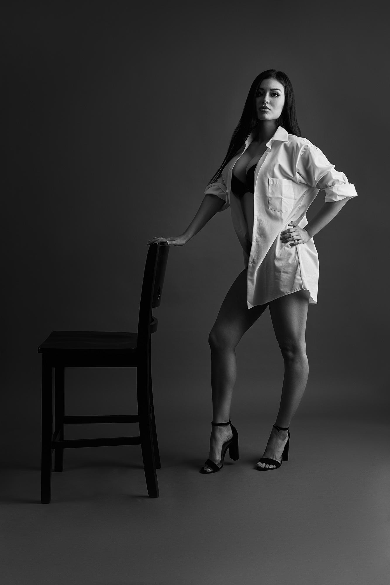 Veronica Glamour Model by Mesa Arizona Fashion Portrait Photographer Chad Weed