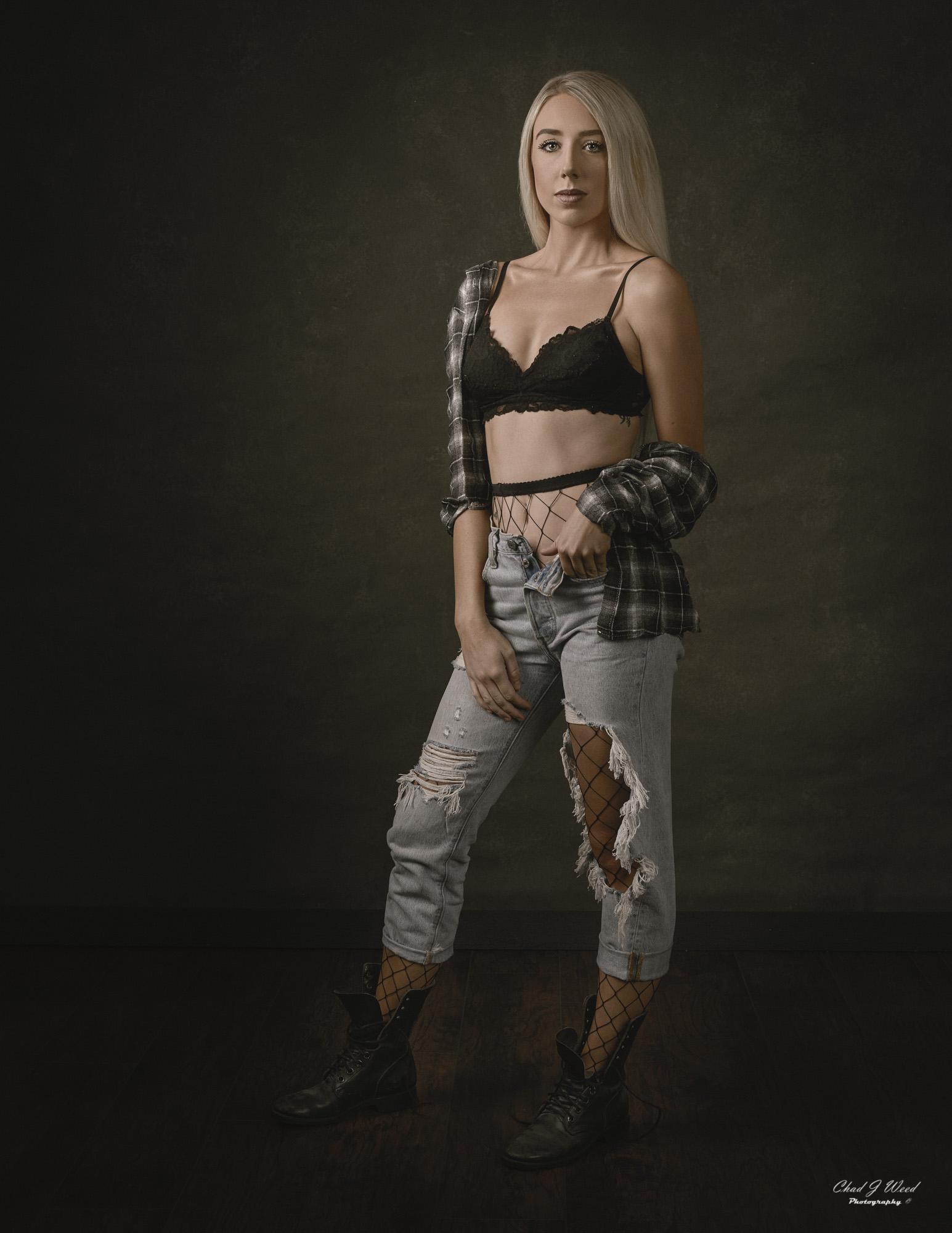 Arizona Portrait Photographer Chad Weed with Fashion Model Ashlyn