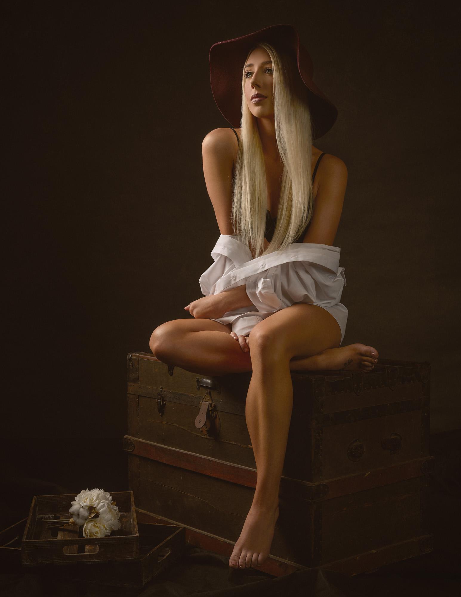 Arizona Glamour Model Ashlyn by Arizona Portrait Photographer Chad Weed