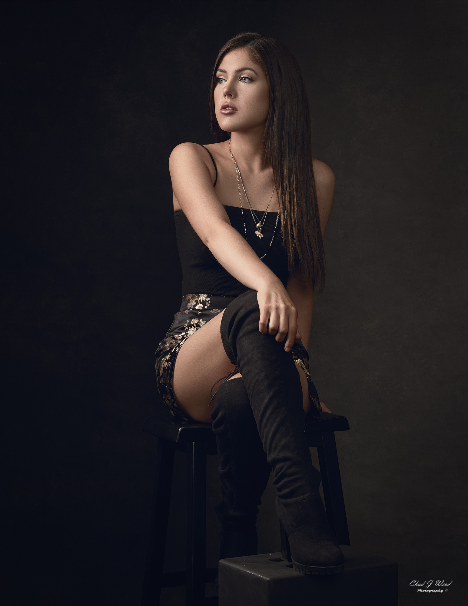 Arizona Fashion Photographer Chad Weed with Fashion Model Jasmine - Black Skirt 2