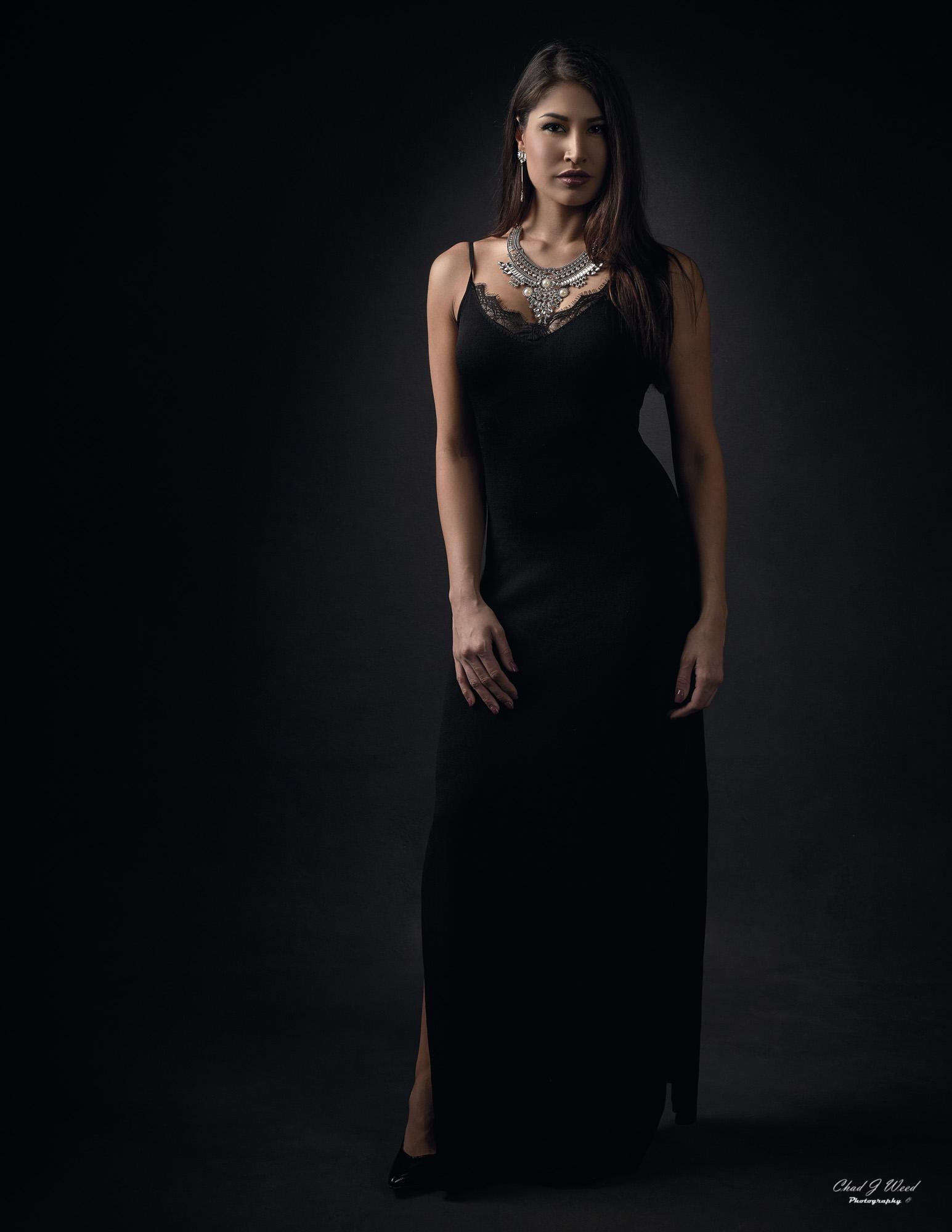 Arizona Fashion Photographer Chad Weed with Fitness Model Ashly - Black Dress 2