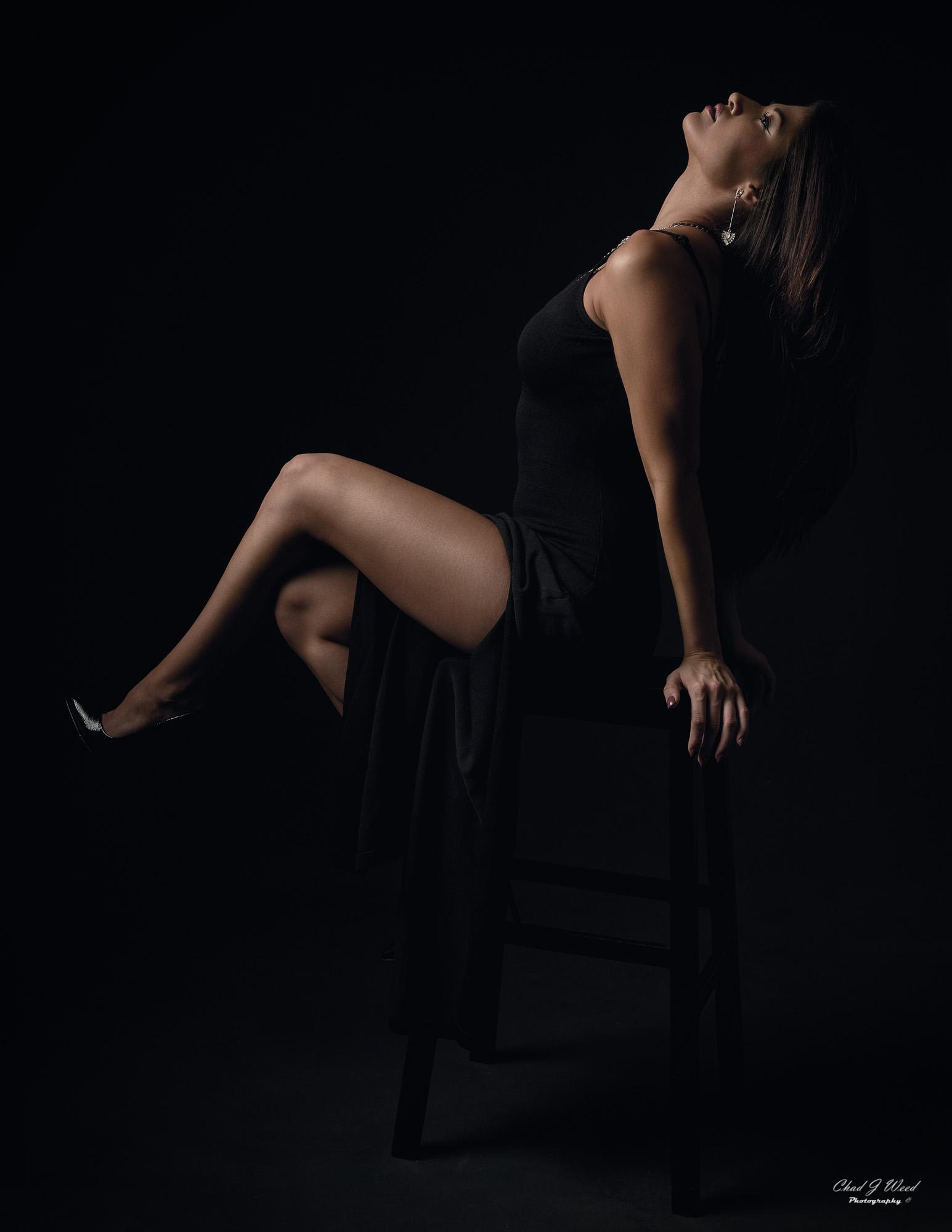 Arizona Fashion Photographer Chad Weed with Fitness Model Ashly - Black Dress 3