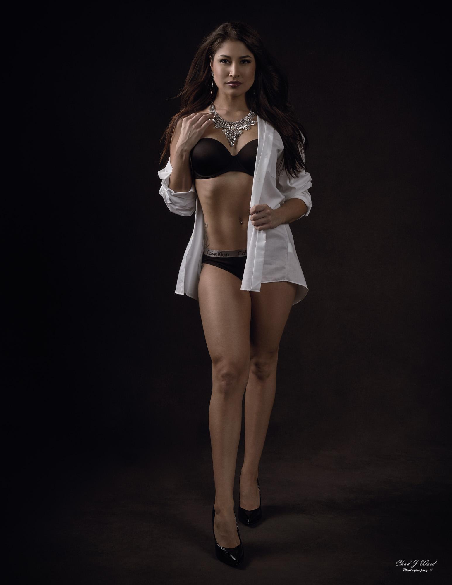 Arizona Fashion Photographer Chad Weed with Fitness Model Ashly - My White Shirt 1