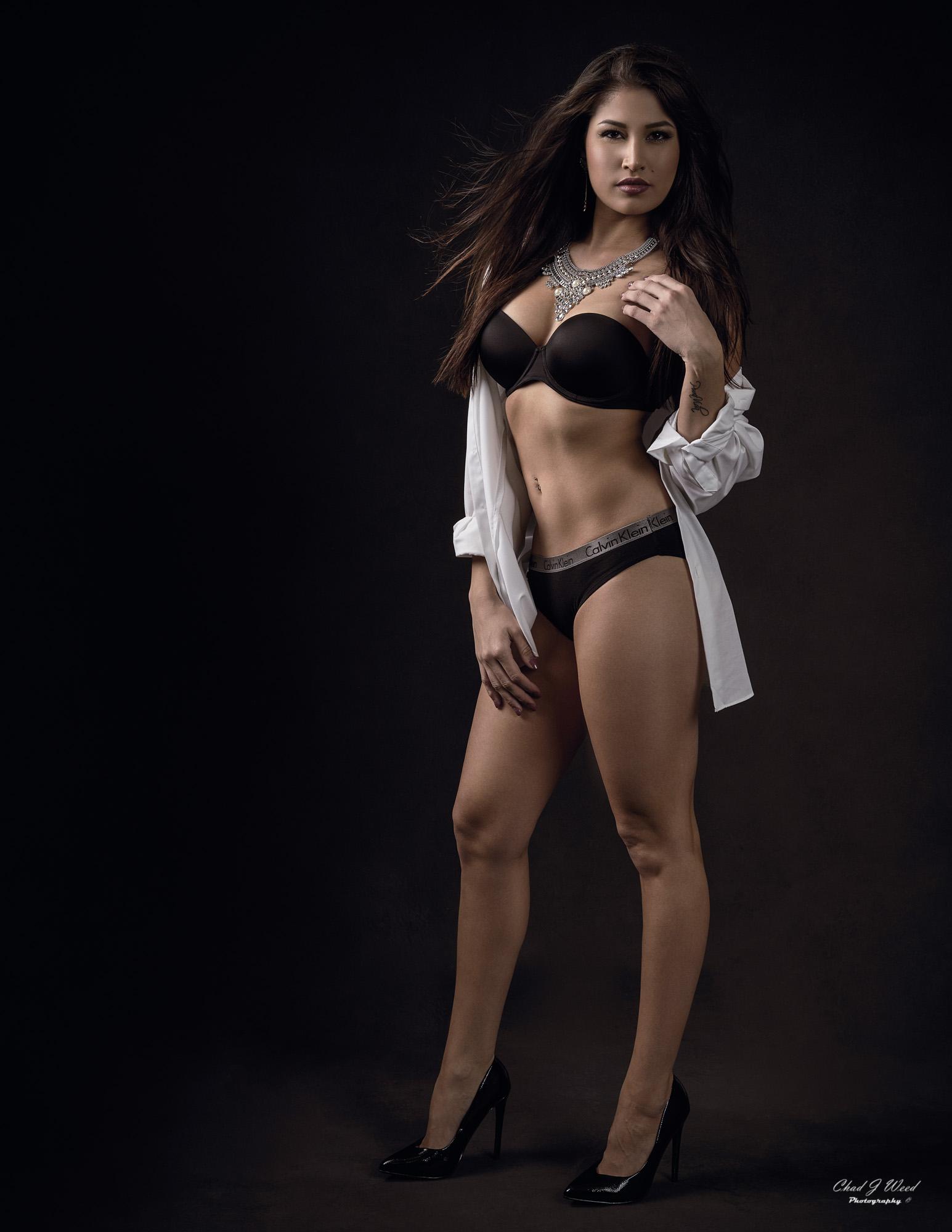 Arizona Fashion Photographer Chad Weed with Fitness Model Ashly - My White Shirt 2