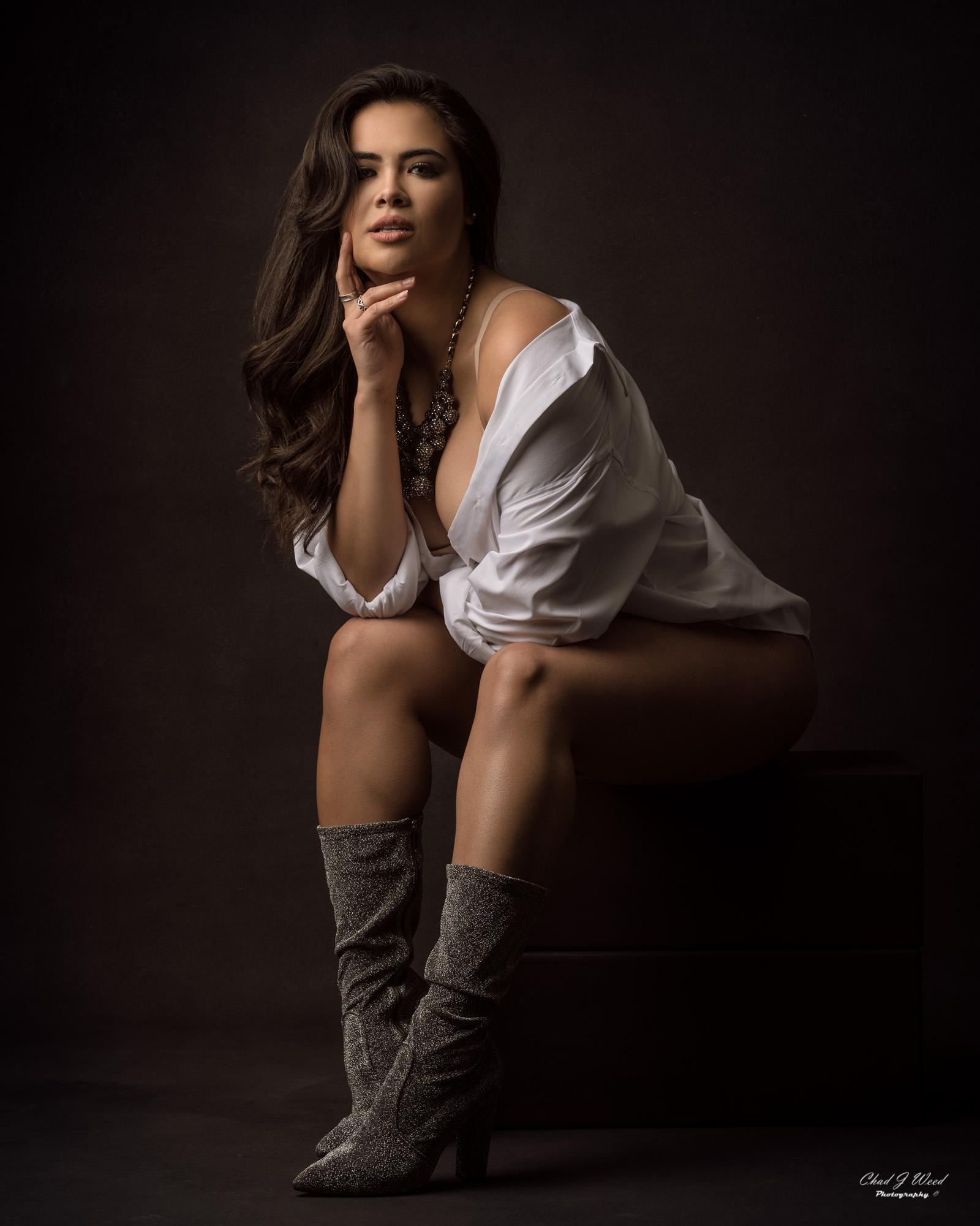 Mesa Arizona Boudior Photographer Chad Weed of Fashion Model Karla