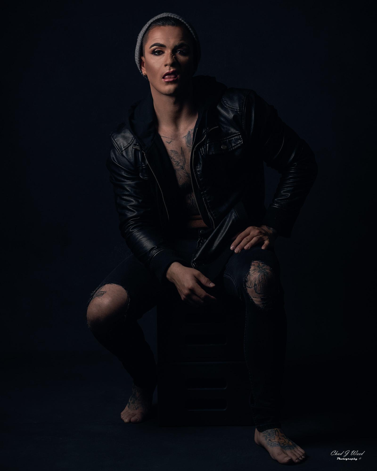 Arizona Glamour Portrait Photographer Chad Weed with Fitness Bad Boy Isaac