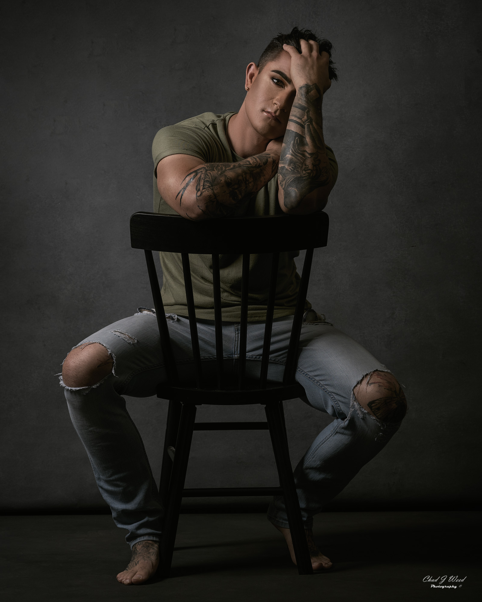 Arizona Glamour Portrait Photographer Chad Weed with Isaac