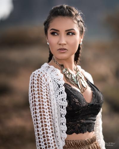 Fashion Model Zari at Superstition Mountains with Mesa Arizona Fashion Photographer Chad Weed