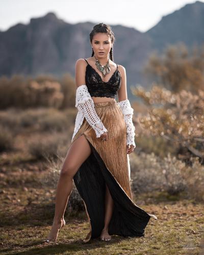 Mesa Arizona Fashion Photographer Chad Weed with Fashion Model Zari