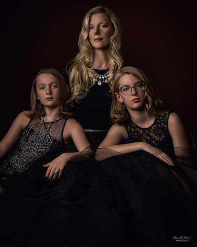 Mother and Daughters by Mesa Arizona Family Portrait Photographer Chad Weed