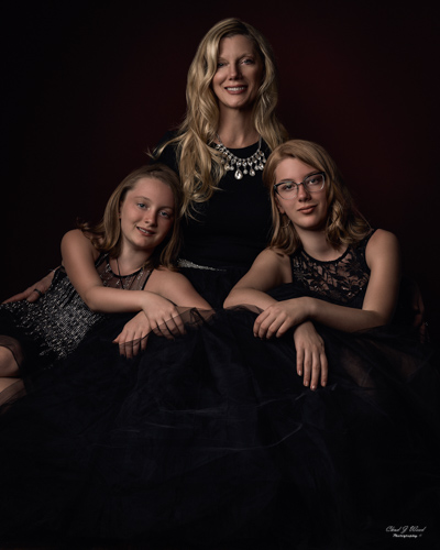 Happy Mother and Daughters by Mesa Arizona Family Portrait Photographer Chad Weed