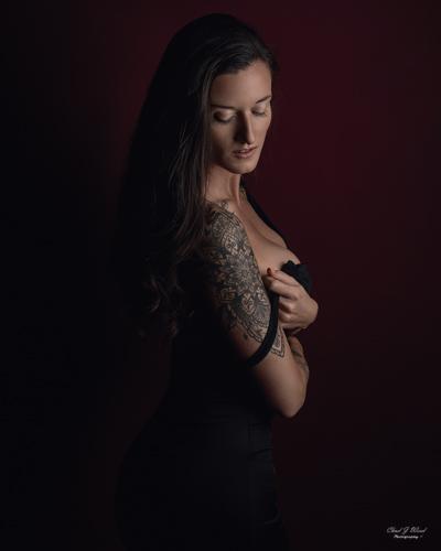 Mesa Arizona Glamour Portrait Photographer Chad Weed with Model Kristi
