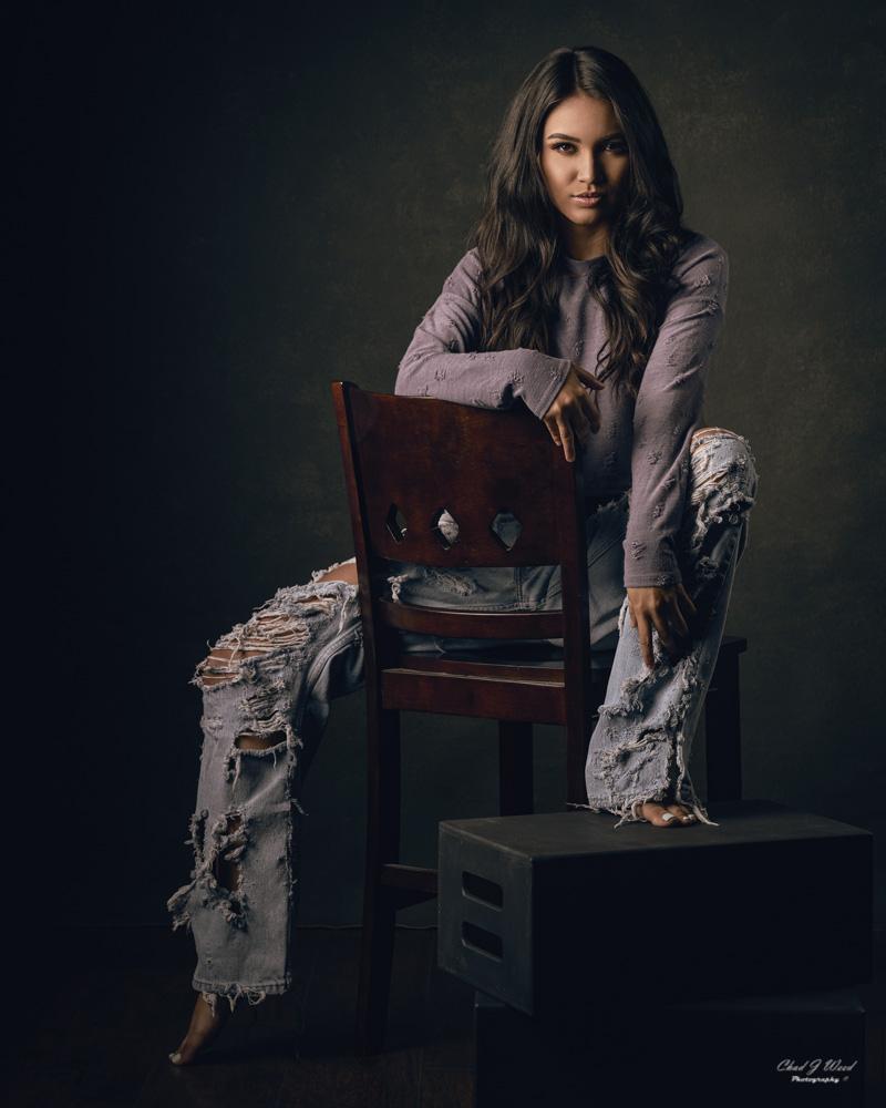 Ripped Jeans Fashion Portrait Session in Mesa, Arizona