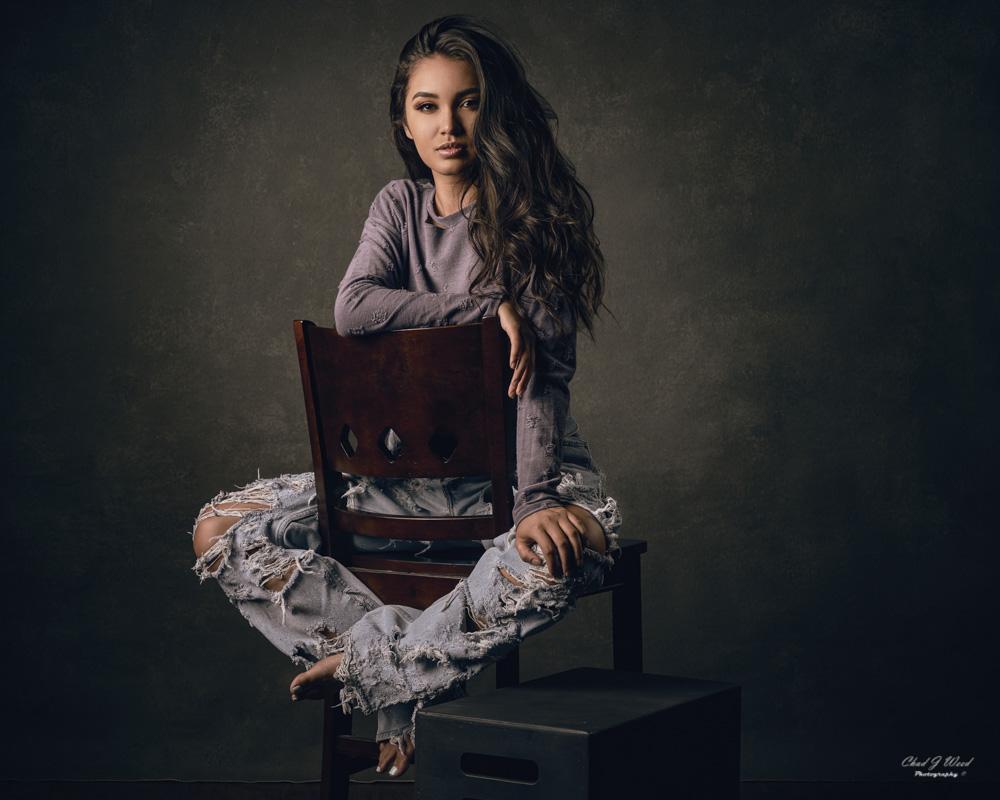 Beauty Model Portrait Session in Mesa Portrait Studio