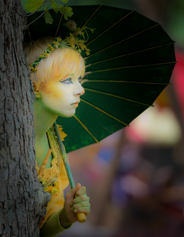 Wood Fairy by Tree
