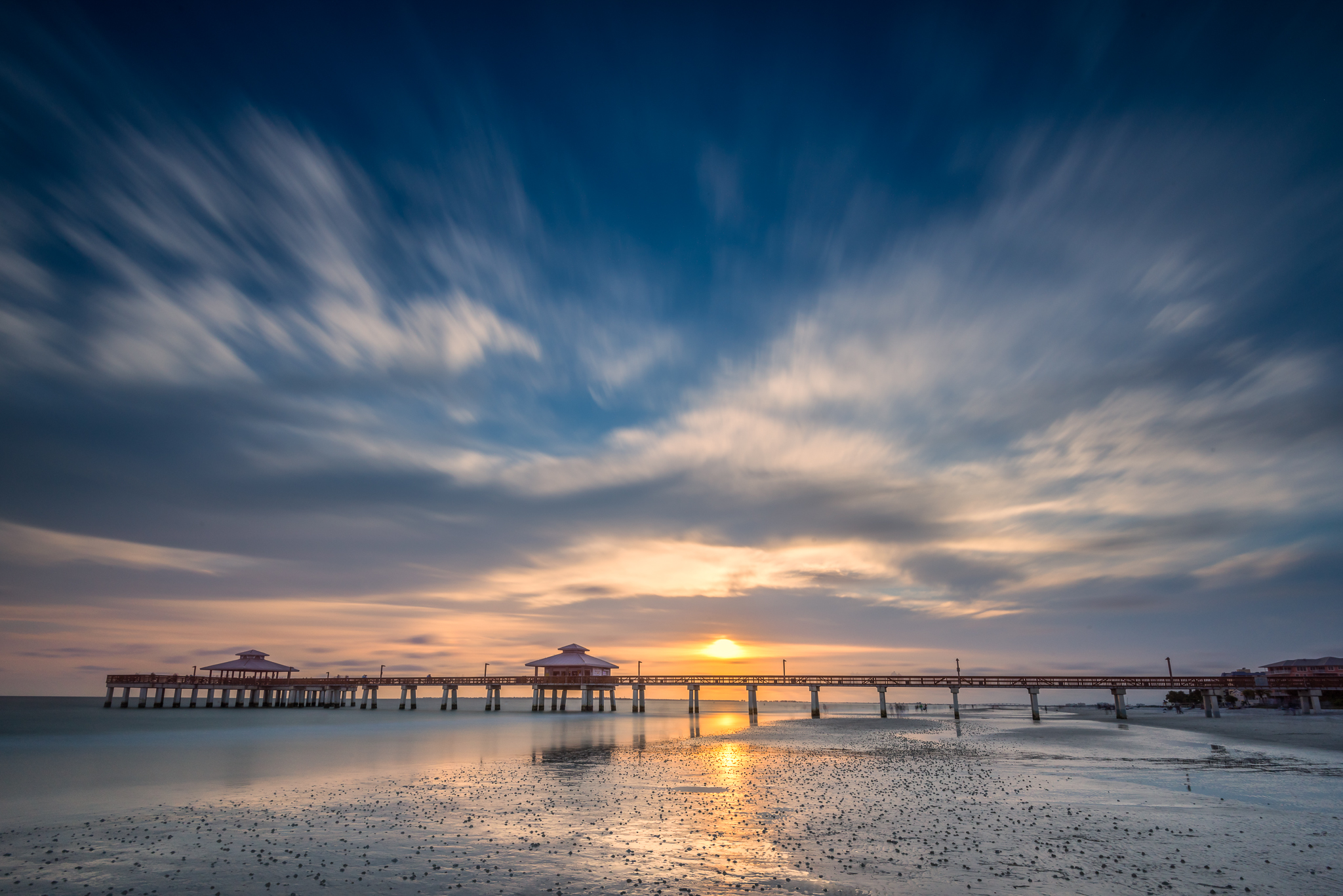 Fort Myers Fishing Pier at Sunset