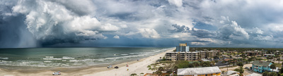 Storm at New Smyrna Beach Pano